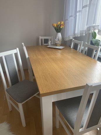 Stół 1,7 m + 6 krzeseł