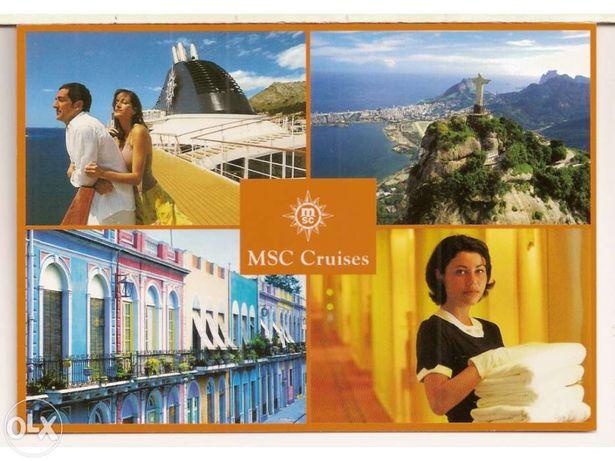 3 Postais da MSC Cruise (Portes Incluídos)