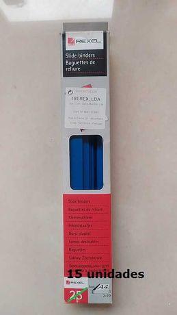 Baguete para encadernação - 15 unidades - Cor Azul
