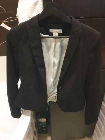 Sprzedam klasyczna czarna taliowana marynarke H&M