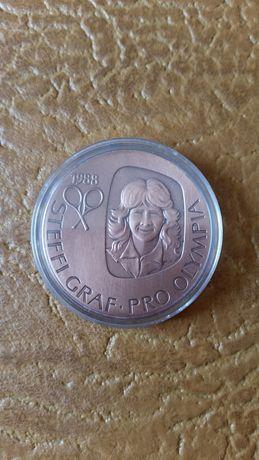 Олимпийская памятная медаль Штеффи Граф Сеул 1988 года