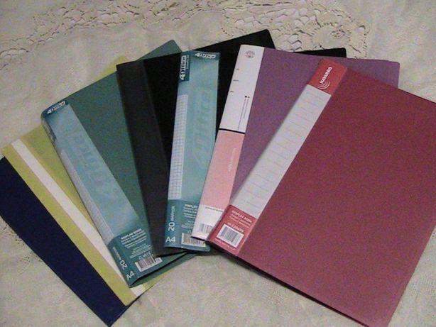 пластиковые папки, папки-конверты и бумажные папки