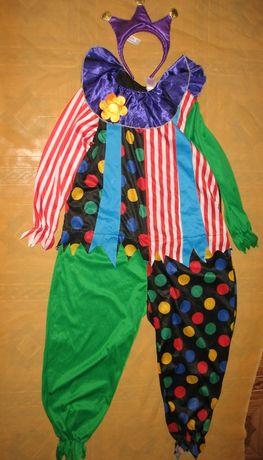 карнавальный костюм на масленицу клоуна, шута арлекина на 8-11 лет