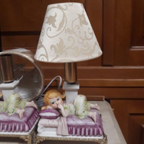 Пара Настольных  ламп бисквит фарфор  бисквит