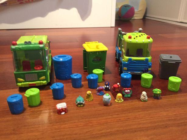Trash Pack - 2 camiões, caixotes, 11 bonecos