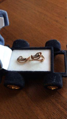 Сережки   з діамантами
