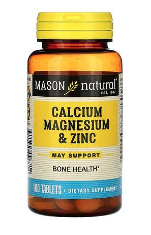 Кальций, магний и цинк, 100 таблеток