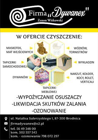 firma DYWANEX Zenon Witkowski czyszczenie, pranie dywanów, tapicerki