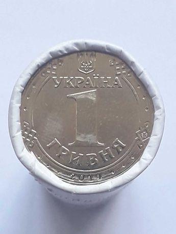 1 гривна 2014 Владимир Великий - ролл. 50 монет UNC