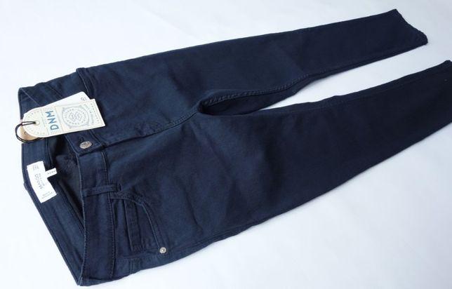 nowe RURKI 34/XS MANGO mod. PATY spodnie JEANSY skinny GRANATOWE