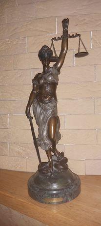 Rzeźba Temida z brązu wys.47 cm
