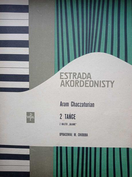 Rzadkie nuty akordeon Estrada akordeonisty 59 r. 2 tańce Chaczaturian