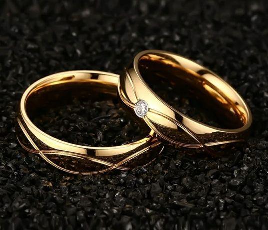 Aliança namoro - compromisso - casamento em ouro laminado 18K
