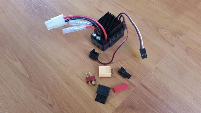 Variador controlador velocidade ESC RC para motor brushed escovas