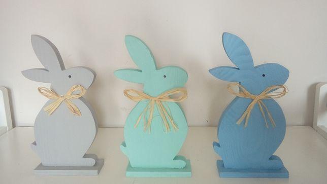 Zajączek drewno dekoracja Wielkanoc