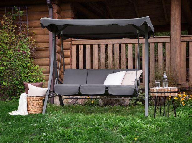 Baloiço de jardim de aço em cinzento GARBO - Beliani