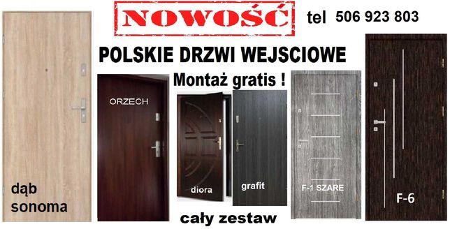 Drzwi wejściowe ZEWNĘTRZNE z montażem do mieszkania-wewnątrzklatkowe
