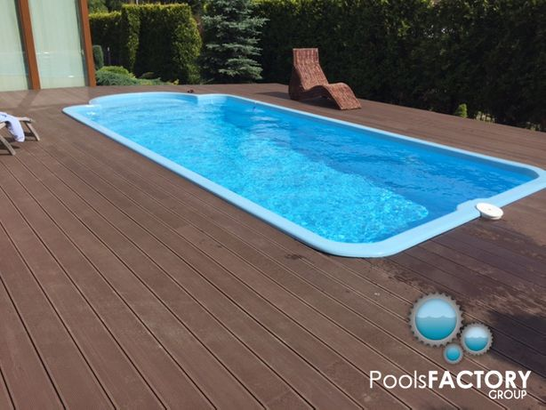 BASEN ogrodowy kąpielowy poliestrowy gotowy z laminatu 8x3 PRODUCENT