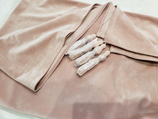 Manta NOVA de fundo de cama em veludo rosa