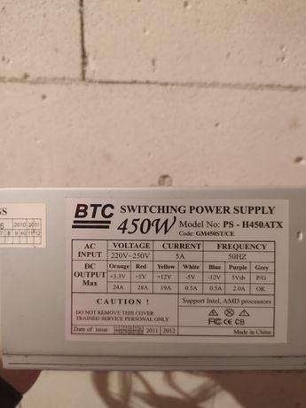 Блок питания BTC 450w