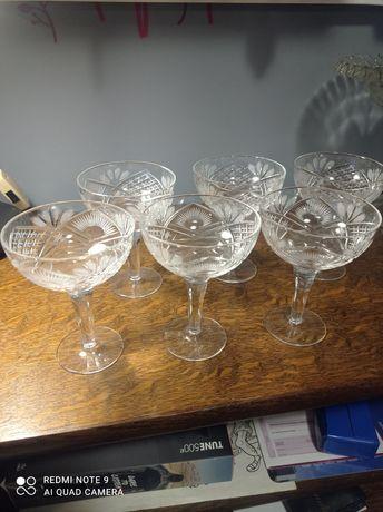 Kryształowe kieliszki do szampana 6sztuk stare