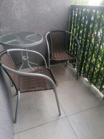 Meble ogrodowe/balkonowe - stół i krzesła