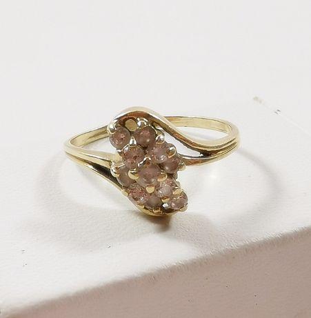 ŚŁiczny złoty pierścionek próby 585 rozmiar 15