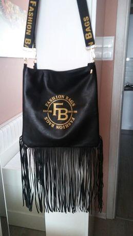 Czarna duża torebka,nowa