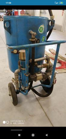 Piaskarka ACF-200 przewody sterowanie kompresor dysza