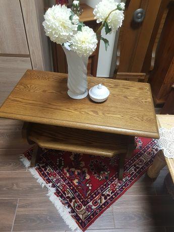 Stolik ,stoliczek gazetnik caly drewniany