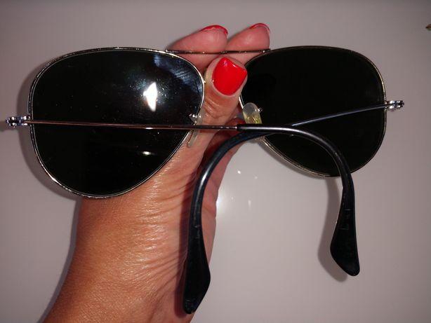Óculos espelhado cinza Ray ban aviador