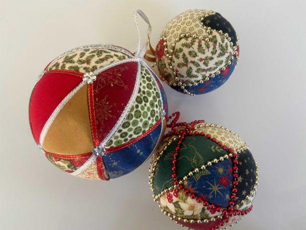 Bolas de Natal (feitas à mão)