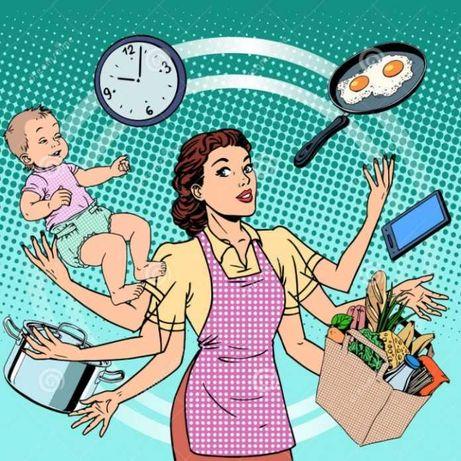 Serviço de Limpeza, cuidar de crianças