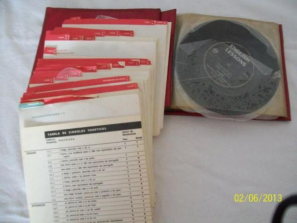 Curso de ingles com discos vinil - vintage