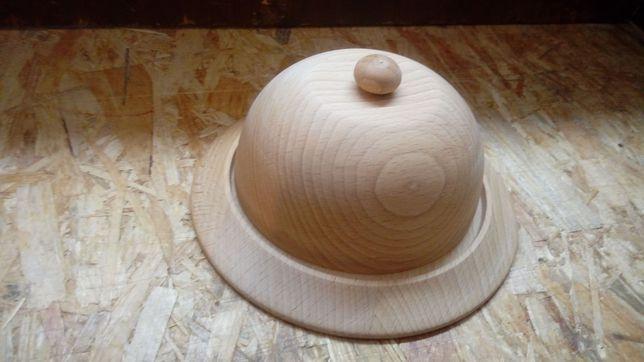 Pojemnik na masło drewniany -NOWY