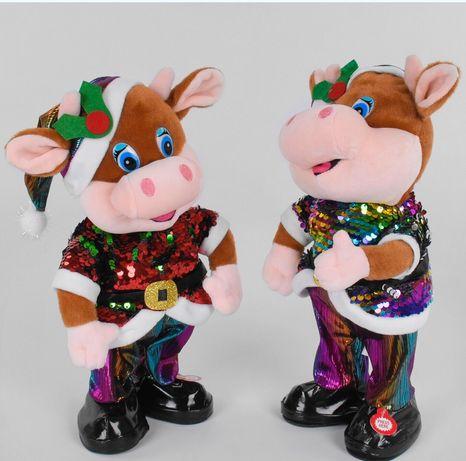"""Мягкая игрушка """"Музыкальный танцующий бычок"""" Новый год 2021"""