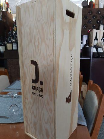 Caixa grande de madeira garrafa 12 ou + litros