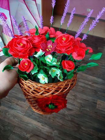 """Продам"""" Корзинку квітів"""" з фоамірану"""