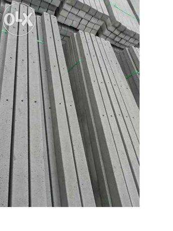 Słupki betonowe szpalerowe siatka leśna z montażem