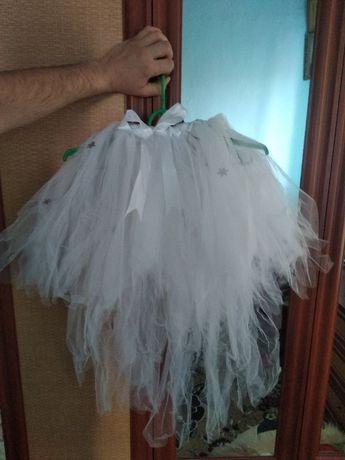 Нарядные платья, юбка пачка на утренник снежинка