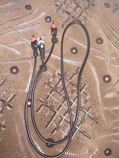 Кабель-переходник на 2 тюльпаны для аудиоустройств