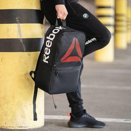 Рюкзак рибок мужской городской, портфель школьный reebok черный ранец