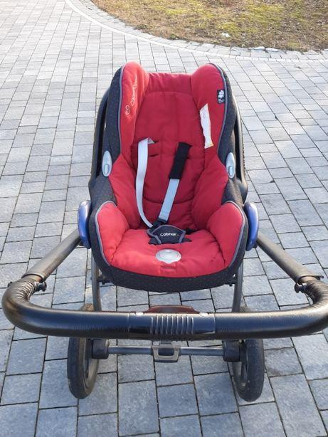 Fotelik samochodowy Maxi Cosi Cabrio 0-13 kg czerwony, z bazą Easy Fix