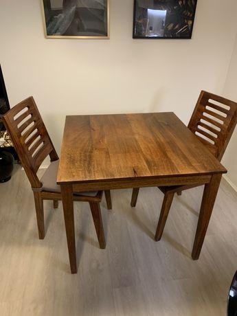 Stòl i 2 krzesła - drzewo sziszan -