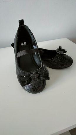 H&M 26 NOWE, baletki, baleriny, brokad, kokardki