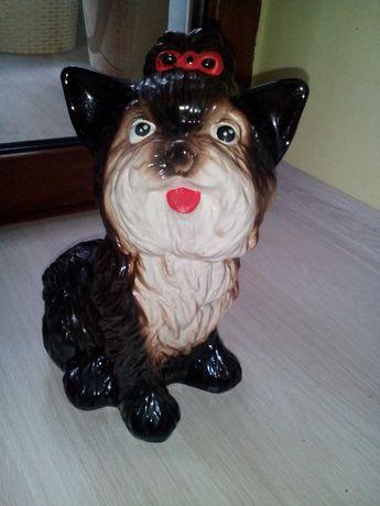 Копилка собачка керамика
