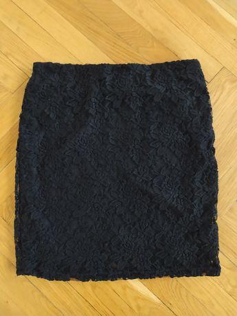 Czarna koronkowa spódniczka/spódnica/mini Amisu New Yorker rozmiar 38