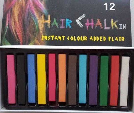 мелки для волос, временная покраска для волос, локонов. прядей