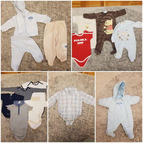 Zestaw ubranek dla chłopca 62 - 80 kombinezon, bodziaki, C&A H&M Smyk