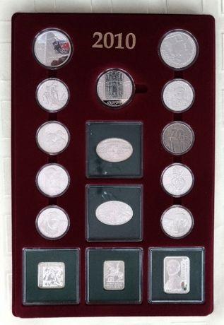 Kolekcja srebrnych monet rocznik 2010